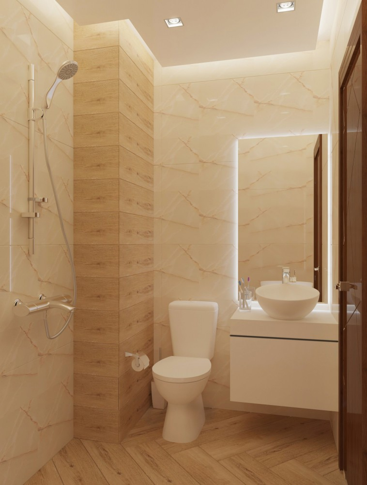 3D design of a bathroom in gated community Perla, block 8, city Burgas