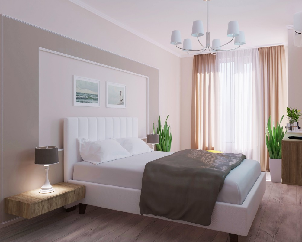 3D design of a master bedroom in gated community Perla, block 8, city Burgas